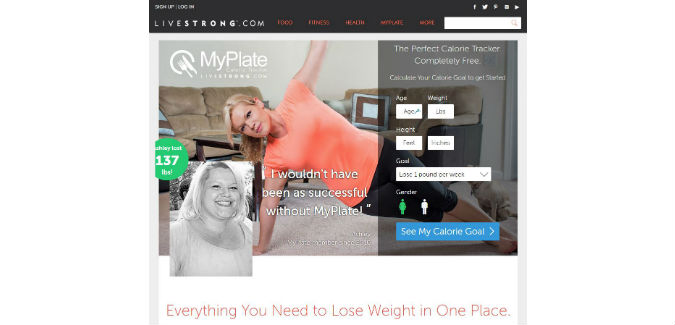Livestrong MyPlate Calorie Tracker Review